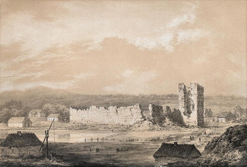 Крэўскі замак. Малюнак Напалеона Орды.