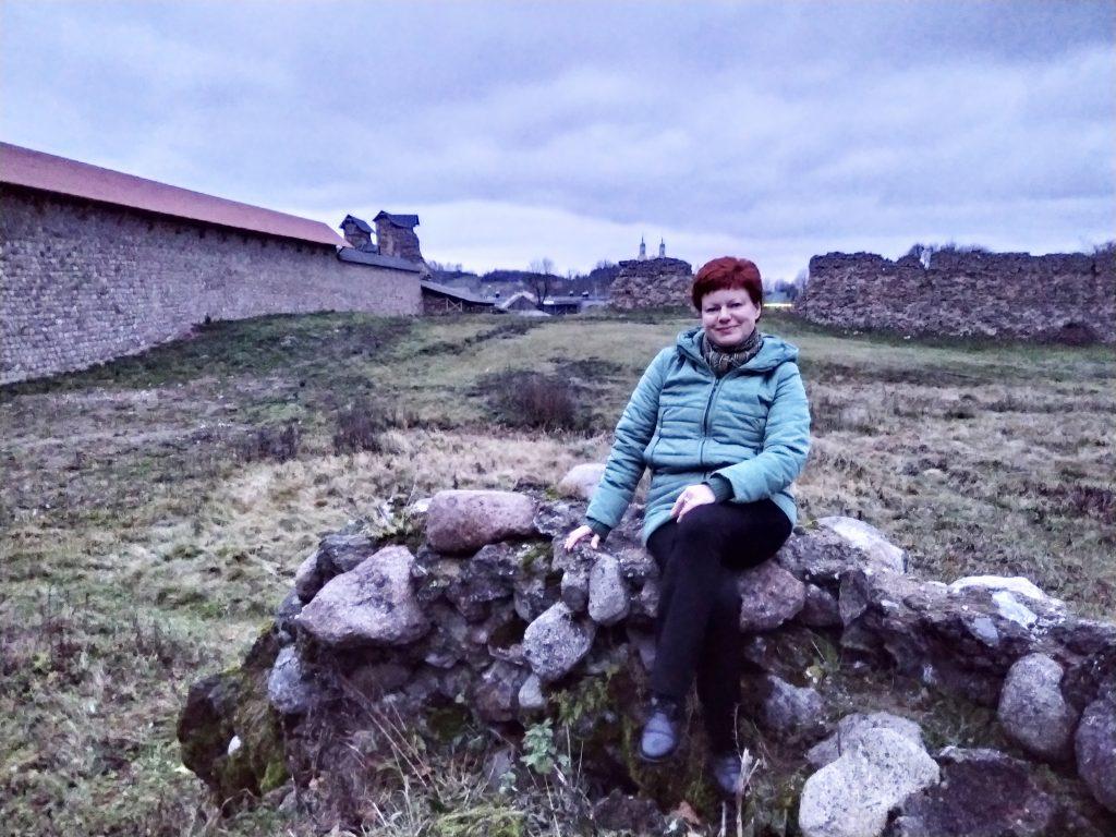 На руінах Крэўскага замка.