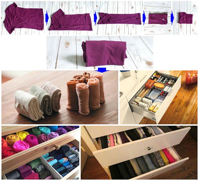 как складывать вещи и одежду