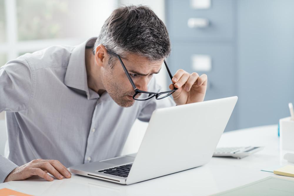 плохое зрение при чтении