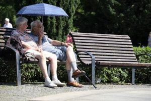 пенсионеры на лавочке