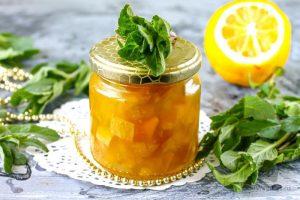 Варенье из кабачка с лимоном, яблоками и мятой