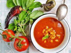 Густой суп из кабачка и фасоли