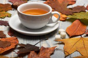зеленый чай осенью